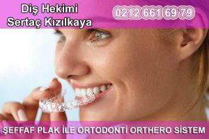 Şeffaf plak ile ortodonti orthero sistem
